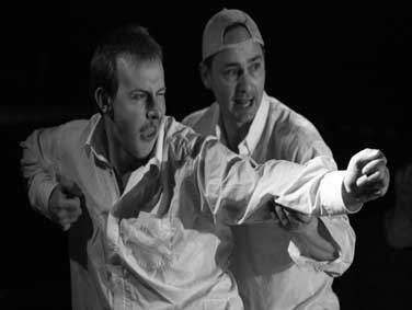 From left: Pab Roberts as William and Andy Corelli as Peter in 'Night Duty'