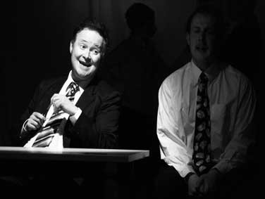From left: Calum Beaton as John and Pab Roberts as Ray in 'Desk Job'
