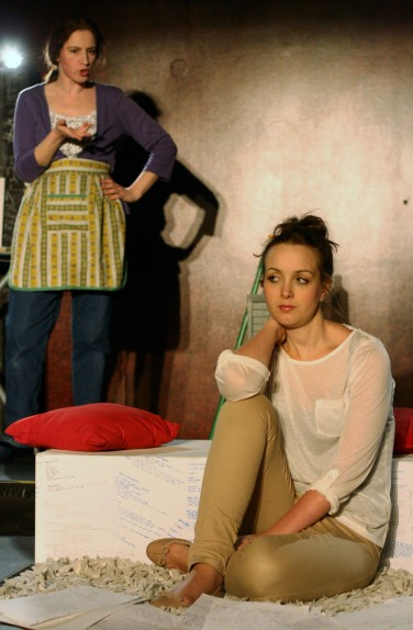 From left; Danielle Farrow as Debs, Lily Carrie as Chloe