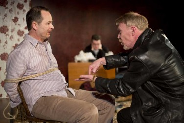 Andy Corelli as Lawson (left) with Ian Sexon as Brady in Siege Perilous' production of David Hutchison's Too Long The Heart