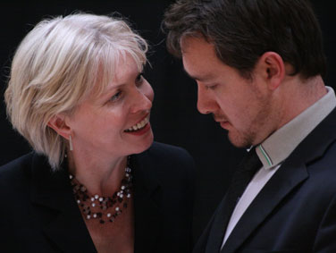 Nelly Morrison and Stephen Eliot-McDonald in the rehearsed reading of 'King Arthur' 2008 by Lucy Nordberg