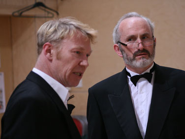 Ian Sexon & Nick Cheales in the rehearsed reading of 'King Arthur' 2008 by Lucy Nordberg