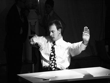 Pab Roberts in 'Desk Job' by Paul Bishop