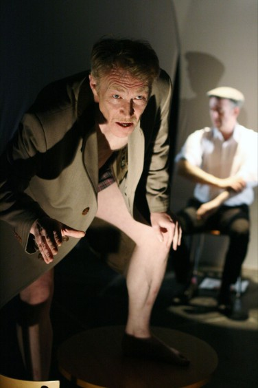 From left: Ian Sexon & Adam Tomkins in 'Turning to the Camera' by Simon Jackson